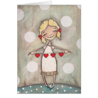 Heartstrings - Blank Notecards Card