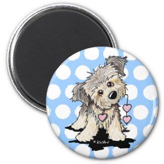 Heartstrings Border Terrier 6 Cm Round Magnet
