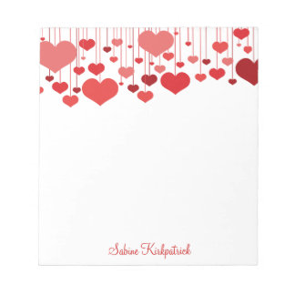 Heartstrings Valentines Notepad