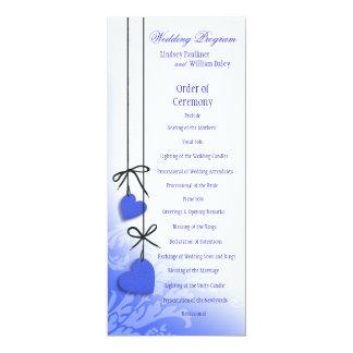 Heartstrings Wedding Program cobalt Invites