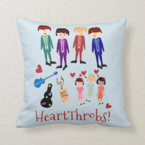 Heartthrobs Vintage Band Illustration Cushion