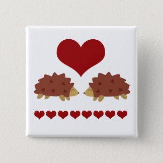 Hearty Hedgehog 15 Cm Square Badge