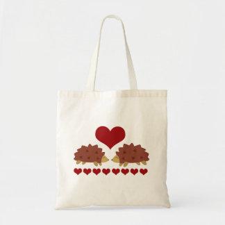 Hearty Hedgehog Canvas Bags