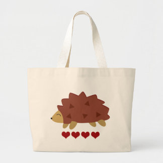Hearty Hedgehog Large Tote Bag