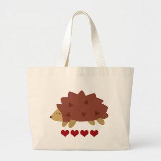 Hearty Hedgehog Large Tote Bag