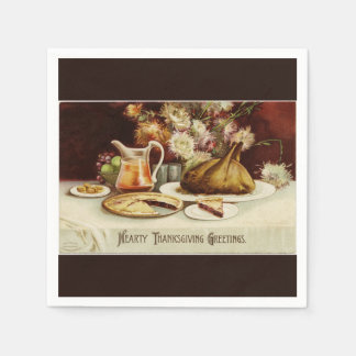 Hearty Thanksgiving Dinner Paper Napkin