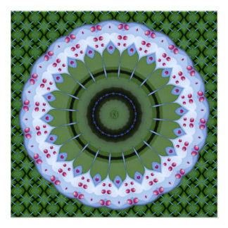 Hearty Wheel Kaleidoscope Mandala Custom Invites