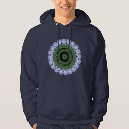 Hearty Wheel Kaleidoscope Mandala Hoodie