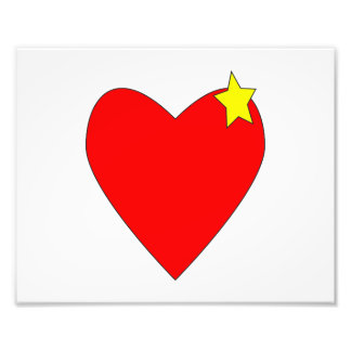 hearty with yellow star.png photo print