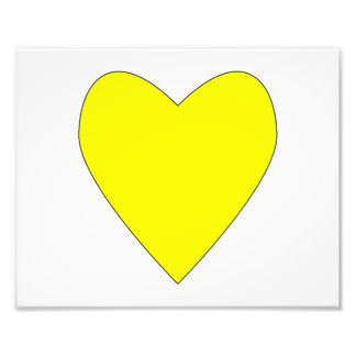 hearty yellow with outline.png photographic print