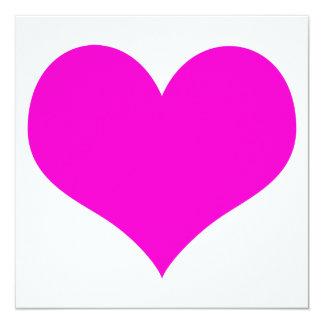 heartz 13 cm x 13 cm square invitation card