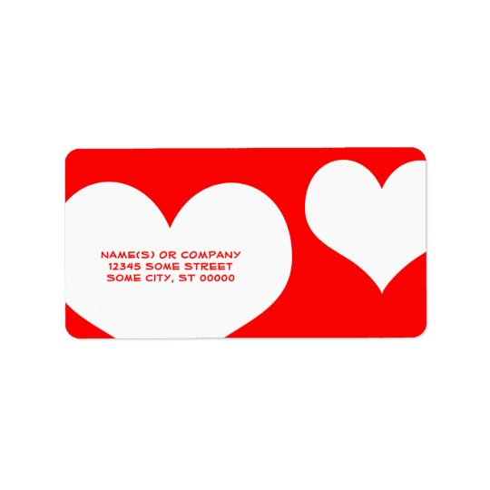 heartz address label