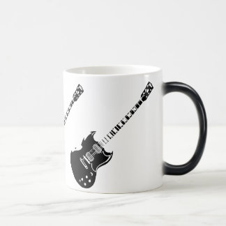 Heat Activated Appearing Guitar Mug