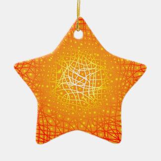 Heat Background Christmas Ornament
