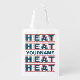 HEAT custom monogram reusable bag