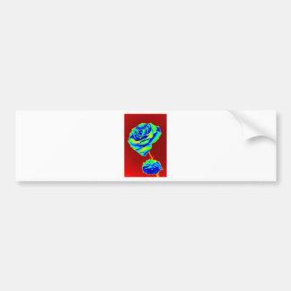 Heat map Rose Bumper Sticker