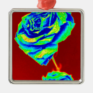 Heat map Rose Christmas Ornament