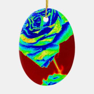 Heat map Rose Christmas Ornament