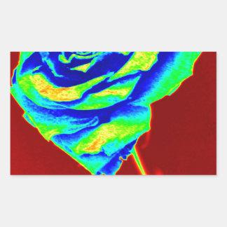 Heat map Rose Rectangular Sticker