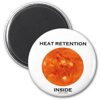 Heat Retention Inside (Sun) 6 Cm Round Magnet