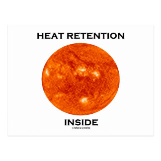 Heat Retention Inside (Sun) Postcard