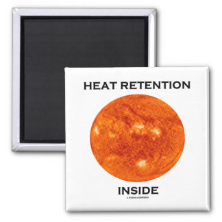 Heat Retention Inside (Sun) Square Magnet