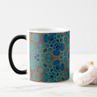 Heat Sensitive Dissapearing Honeycomb Fractal Mug