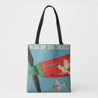 Heat Up The Skies Airplane Plane Aviation  Tote