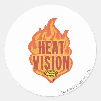 Heat Vision Classic Round Sticker