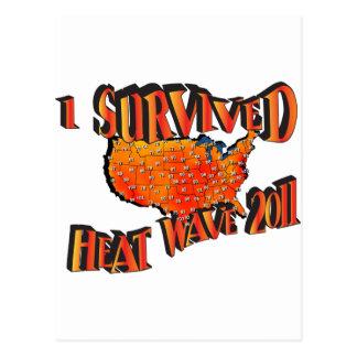 Heat Wave Survivor 2011 Bag Postcard