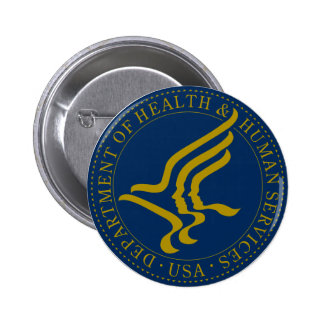 Heath and Human Services Department 6 Cm Round Badge