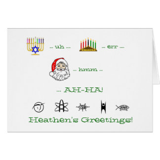 Heathen's Greetings atheist holiday card