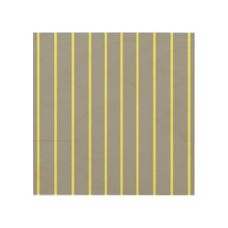 Heather and Canary Pinstripe Wood Canvas
