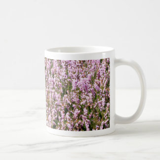 Heather Flowers Beautiful View Basic White Mug