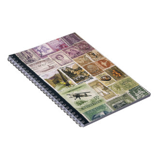 Heather Storm Notebook, Postage Stamp Art Journal Note Books