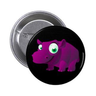 Heather The Hippopotamus 6 Cm Round Badge