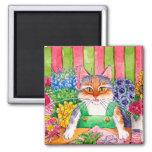 Heather's Flower Shop cat kitten cute magnet
