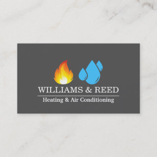 Heating business cards business card printing zazzle uk heating air conditioning cooling business card reheart Image collections