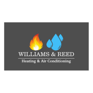 Heating & Air Conditioning, Cooling Pack Of Standard Business Cards