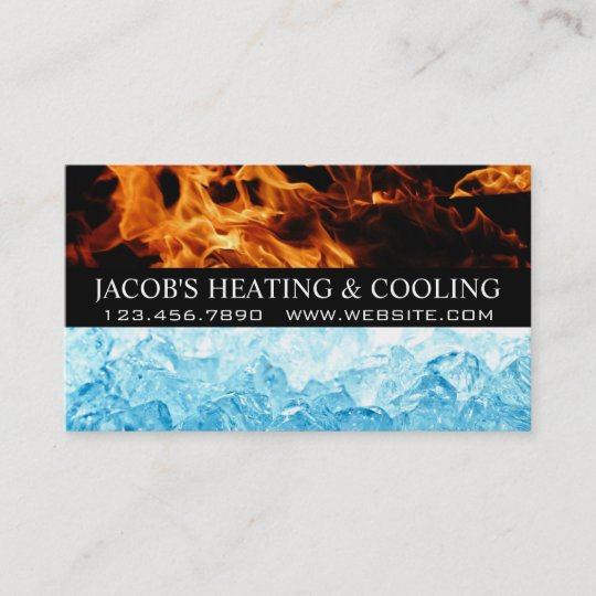 Heating And Air Conditioning Cooling Business Card Zazzle