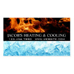 Heating and Air Conditioning Cooling Business Card Pack Of Standard Business Cards