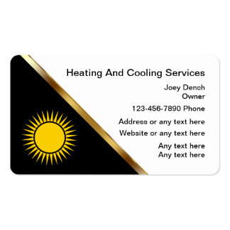 Heating And Cooling Business Cards