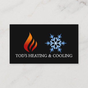 Heating and cooling business cards zazzle uk heating cooling air conditioning hvac business card reheart