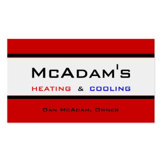 Heating Cooling HVAC Heat Pump Furnace A/C Business Card Template