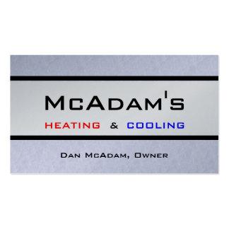 Heating Cooling HVAC Heat Pump Furnace A/C Platnum Business Cards