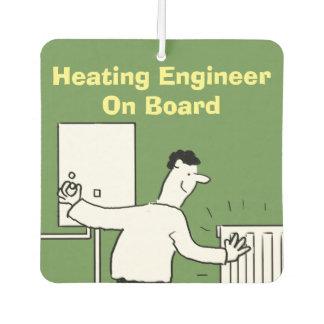 Heating Engineer On Board Car Air Freshener
