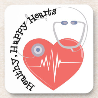 Heatlty Hearts Drink Coasters
