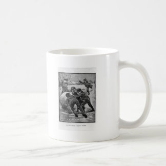 Heave Away! Victorian Christmas Scene Basic White Mug