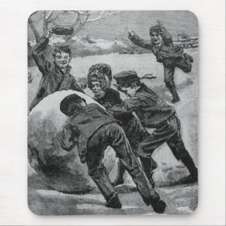 Heave Away! Victorian Vintage Christmas Scene Mouse Pad