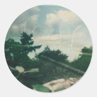 Heaven 001 classic round sticker